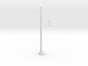1 TRK PRR CATENARY O SCALE in White Natural Versatile Plastic