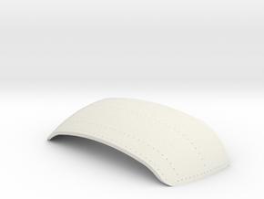 Ovaaldak front part Scale 0 (1:43,5) in White Natural Versatile Plastic