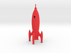 Rocket Ship in Red Processed Versatile Plastic