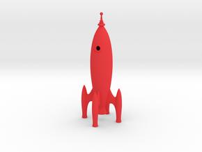 Rocket Ship in Red Processed Versatile Plastic