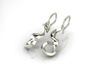 Turns in life earrings JD19E in Fine Detail Polished Silver
