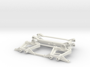 SUR & SOUS CHASSIS  - MR 03  KYOSHO  - in White Natural Versatile Plastic