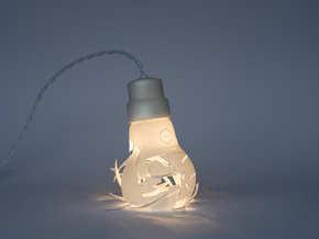 Oops I Dropped The Bulb in White Natural Versatile Plastic