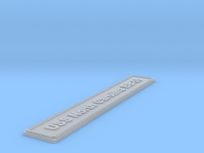 Nameplate: North Carolina BB-55 in Smoothest Fine Detail Plastic