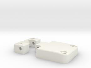 Functional door hinge left D90 D110 RC4WD 1/4 in White Natural Versatile Plastic