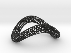MESH_bentorus_03 in Black Natural Versatile Plastic