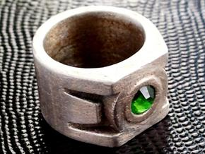Green Lantern Ring size 4 in Stainless Steel