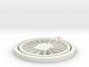 B&B Spinning Ornaments in White Natural Versatile Plastic