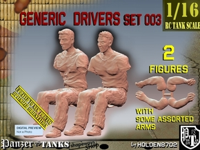 1/16 Generic Drivers Set003 in White Natural Versatile Plastic