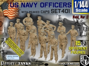 1/144 USN Officers Set401 in Smooth Fine Detail Plastic