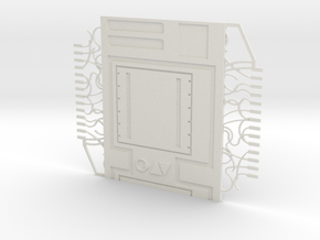AT-AT Back Plate Adult With Bug Box in White Natural Versatile Plastic
