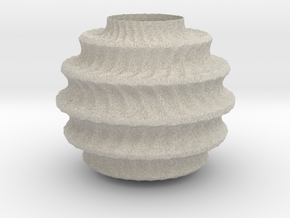 TwBox Vase  (downloadable) in Natural Sandstone