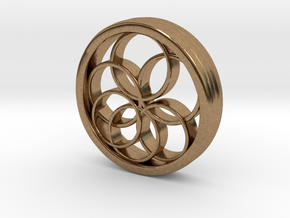 Ring X12 in Natural Brass: Small