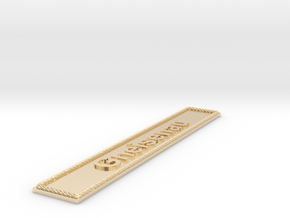 Nameplate: Gneisenau in 14k Gold Plated Brass