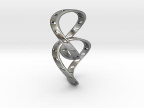Ring X14 in Natural Silver (Interlocking Parts): Small