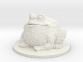 Ice Toad in White Natural Versatile Plastic
