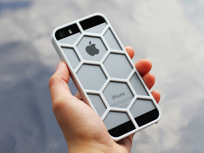 iPhone SE/5/5s DIY Case - Hexelion in White Strong & Flexible Polished