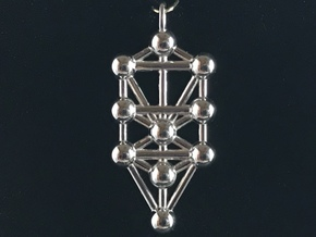 Tree Of Life Pendant in Rhodium Plated Brass