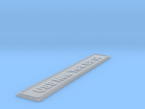 Nameplate: USS New York BB-34 in Smoothest Fine Detail Plastic