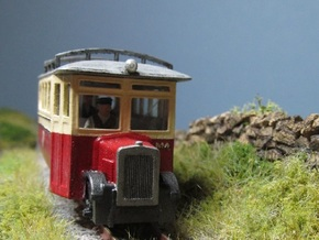 009 Irish Style Railcar  in Smooth Fine Detail Plastic