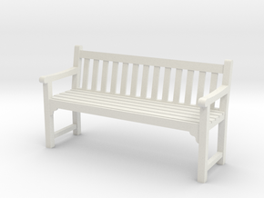 Park Bench  in White Strong & Flexible