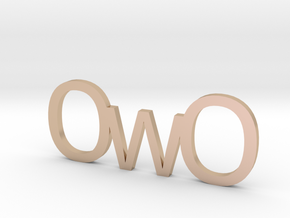 OwO in 14k Rose Gold Plated Brass