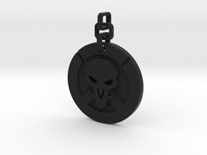 Overwatch reaper Keychain in Black Natural Versatile Plastic