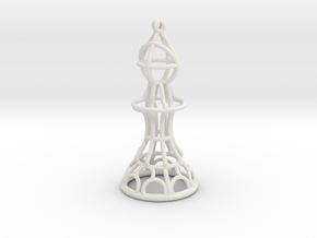 Hollow Chess Set - Bishop in White Natural Versatile Plastic