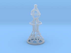 Hollow Chess Set - Bishop in Smooth Fine Detail Plastic