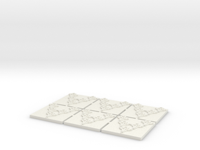 Space Bovine Fighters (6) in White Natural Versatile Plastic