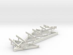 1/32 USN PT Boat Cradle in White Natural Versatile Plastic
