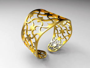 Bracelet Lima Stl in Polished Gold Steel
