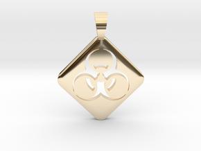 BIOHAZARD ! [pendant] in 14K Yellow Gold