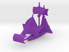 Fan Sail Ship in Purple Processed Versatile Plastic: Large
