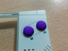 Game Boy Micro A+B buttons in Purple Processed Versatile Plastic