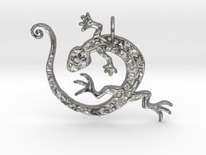 Lizard Dance in Natural Silver