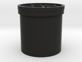 """Praco-Bolsey blade plug 7/8"""" in Black Premium Versatile Plastic"""