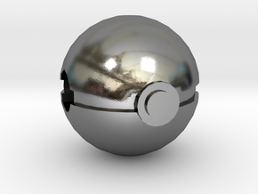 Pokeball Charm in Polished Silver