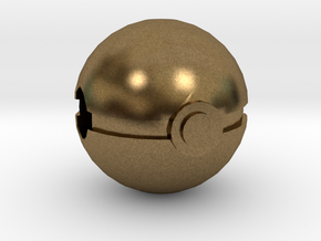 Pokeball Charm in Natural Bronze