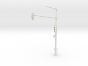 Traffic Light Signal Pole Assembled 1-87 HO Scale in White Strong & Flexible