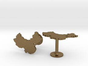 China Cufflinks in Natural Bronze