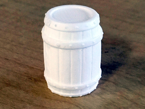 Barrel Environment Miniature in White Natural Versatile Plastic