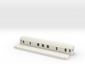 Fo2b - Swedish passenger wagon in White Natural Versatile Plastic