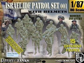 1/87 IDF Infantry Set001 in Smooth Fine Detail Plastic