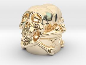 Poison Skulls Bottlestop in 14K Yellow Gold