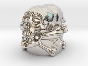 Poison Skulls Bottlestop in Rhodium Plated Brass