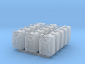 Jerry Cans set #1 28mm in Smooth Fine Detail Plastic