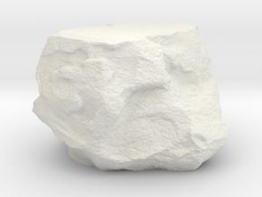 Small Rock Environment Miniature in White Natural Versatile Plastic