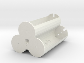 3x 18650 battery 3.7 holder V1 in White Natural Versatile Plastic