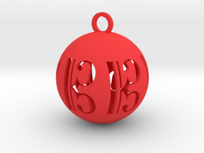 Alto Clef Christmas Tree Ball in Red Processed Versatile Plastic: Small